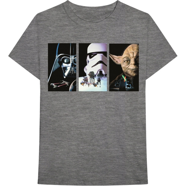 Star Wars - Tri VHS Art Men's Medium T-Shirt - Grey