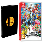 Super Smash Bros Ultimate Nintendo Switch Game + Steelbook