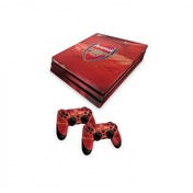 Official Arsenal FC PS4 Pro Console Skin and 2x Controller Skin Combo Pack
