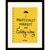 Mary Poppins - Practically Perfect Mounted & Framed 30 x 40cm Print