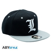 Death Note - L Snapback Cap - Black & Grey