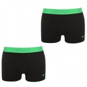 Lonsdale 2 Pack Mens Trunk Boxer Shorts Black & Green Medium