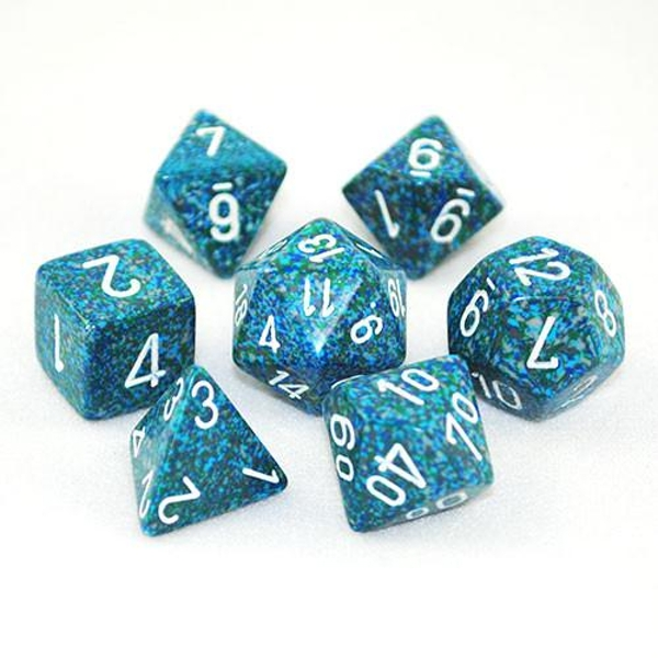 Chessex Speckled Poly 7 Dice Set: Sea