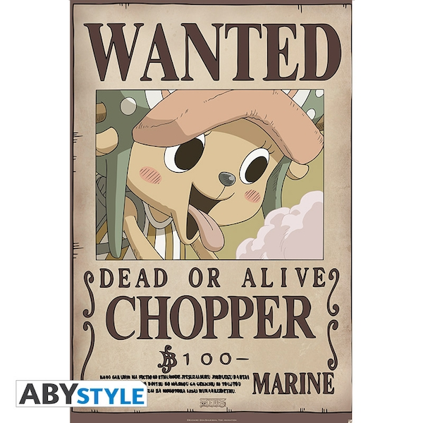 One Piece - Wanted Chopper New Maxi Poster