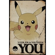 Pokemon Pikachu Needs You Maxi Poster