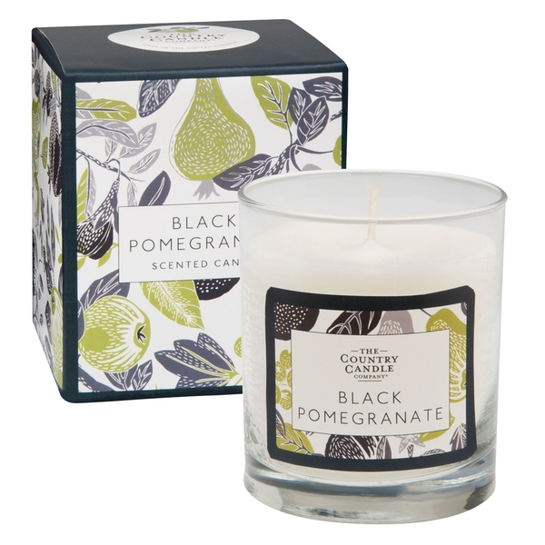 Black Pomegranate (Fragrant Orchard Collection) Glass Candle - Image 1