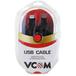 VCOM 2.0 A (M) to USB 2.0 A (F) 3m Black Retail Packaged Extension Data Cable - Image 2