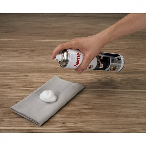 Hama TV Cleaning Foam 400ml (Cloth included) - Image 2