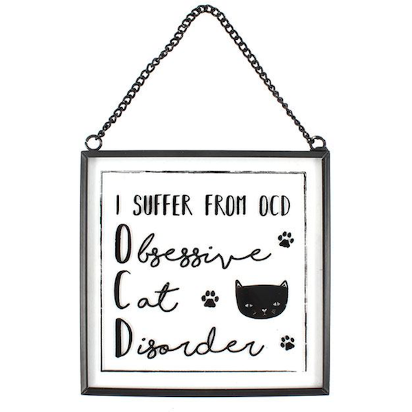 I Suffer From OCD Glass Wall Plaque
