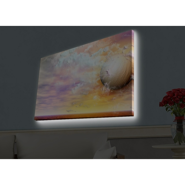 4570HDACT-041 Multicolor Decorative Led Lighted Canvas Painting