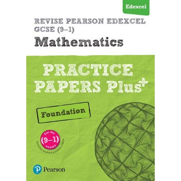 REVISE Edexcel GCSE (9-1) Mathematics Foundation Practice Papers Plus: for the 2015 qualifications by Jean Linksy, Navtej Marwaha (Paperback, 2016)