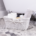 Willow Storage Basket with Cotton Lining | M&W White - Image 2