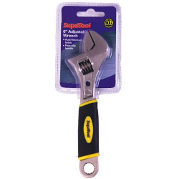 SupaTool Adjustable Wrench with Power Grip 6inch/150mm