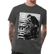 Elvis Presley - The King Men's Small T-Shirt - Grey