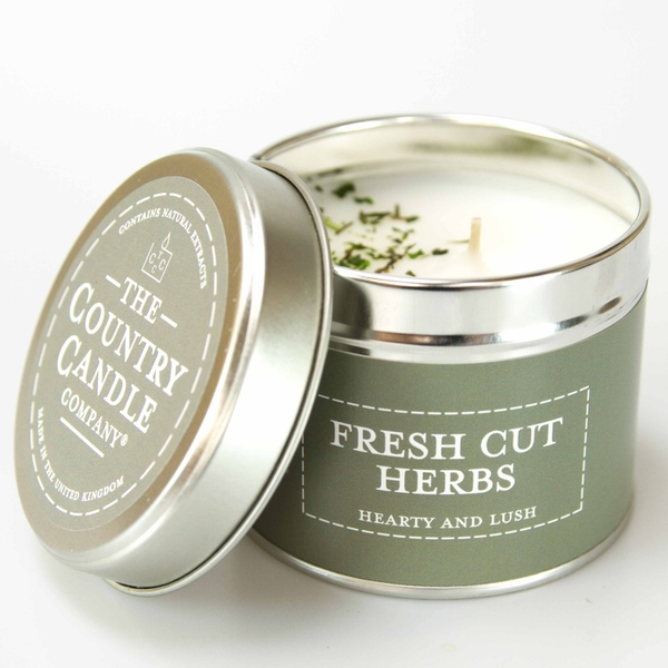 Fresh Cut Herbs (Pastel Collection) Tin Candle