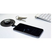 Aircharge Wireless Charging Lightning and Micro USB Keyring Receiver in Silver