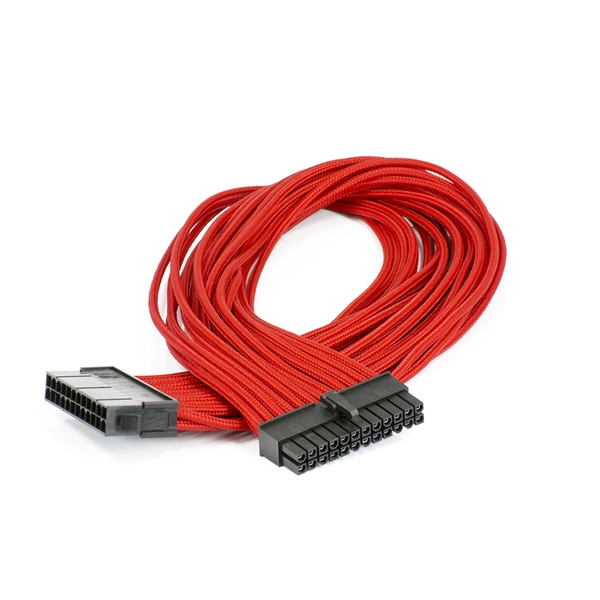 Image of Phanteks 24-Pin ATX Cable Extension 50cm - Sleeved Red