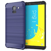CASEFLEX SAMSUNG GALAXY J6 (2018) CARBON ANTI FALL TPU CASE - BLUE