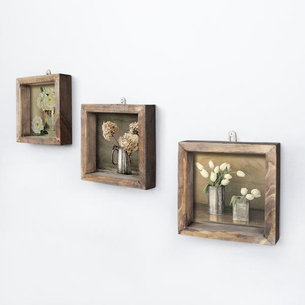 UKZM021 Multicolor Decorative Framed MDF Painting (3 Pieces)