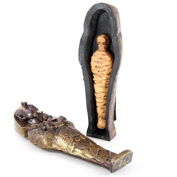 Mini Egyptian Sarcophagus with Mummy (Pack Of 4) Figure
