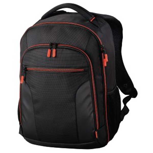 "Hama ""Miami"" Camera Backpack, 190, black/red"
