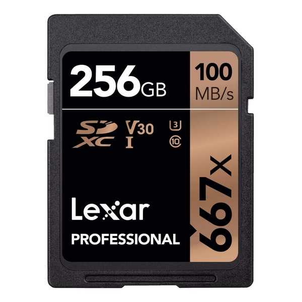 Image of Lexar Professional 667x UHS-I Class 10 SDXC Card 256GB
