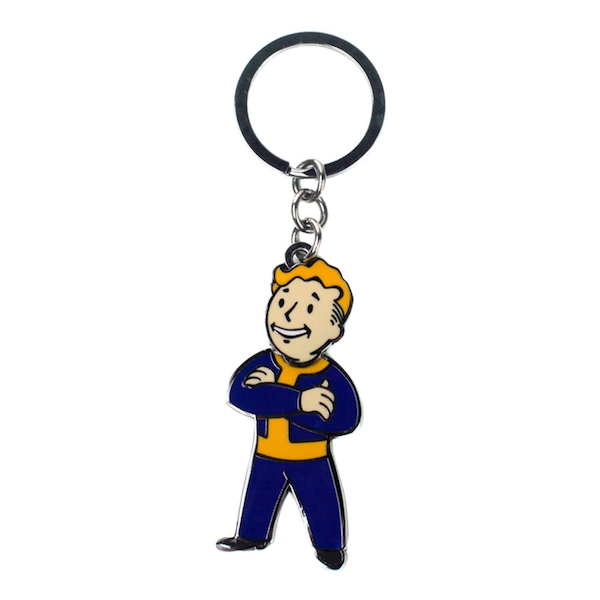 Fallout - Vault Boy With Movable Head Unisex One Size Keychain - Multi-Colour