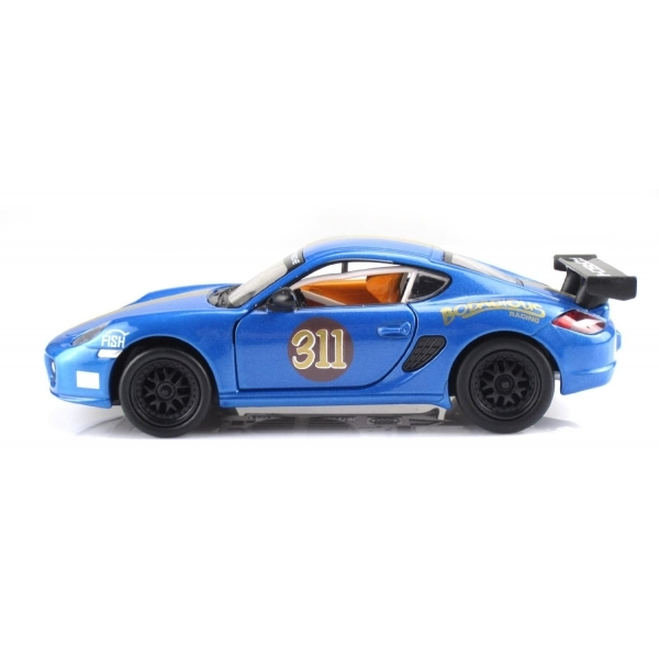 MSZ Vroom Tech 1:32 Scale Porsche Friction Die Cast Car with Lights and  Sound Blue