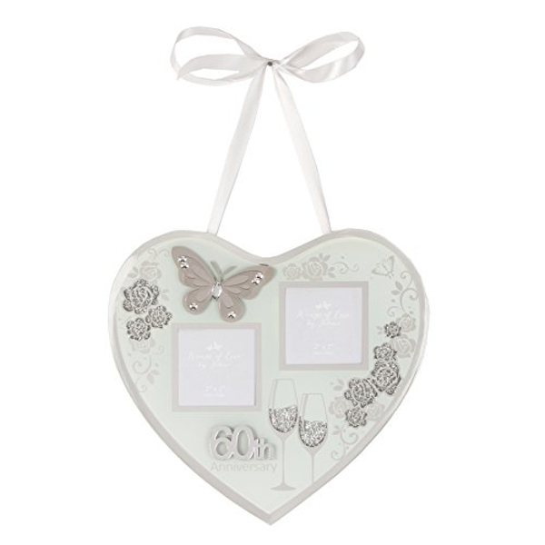 Wedding Heart Plaque - 60th Anniversary