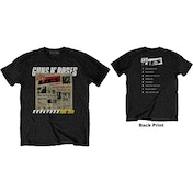 Guns N' Roses - Lies Track List Men's XX-Large T-Shirt - Black