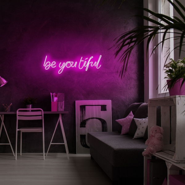 Be you tiful - Pink Pink Wall Lamp