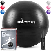 Proworks Gym Fitness Ball (55cm) - Black