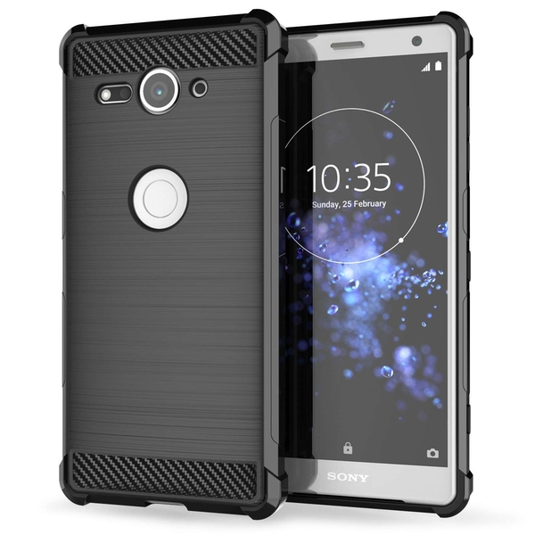 Sony Xperia XZ2 Compact Carbon Anti Fall TPU Case - Black - Image 1
