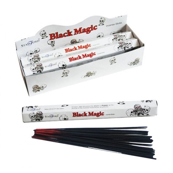 Black Magic (Pack Of 6) Stamford Hex Incense Sticks