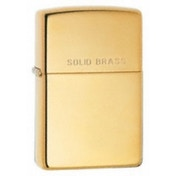 Zippo Solid Brass High Polish Brass Windproof Lighter