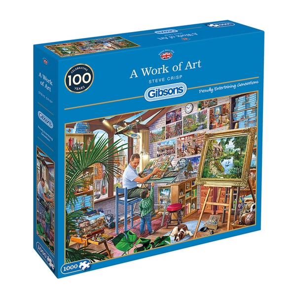 Gibsons Work of Art Jigsaw Puzzle - 1000 Pieces