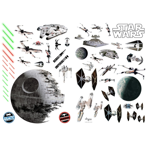 Star Wars - Battleships Wall Stickers (100 x 70 cm) - Image 1