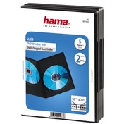 Hama Slim DVD Double Jewel Case, pack of 5, black