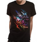 Valerian - Neon Poster Men's Medium T-Shirt - Black