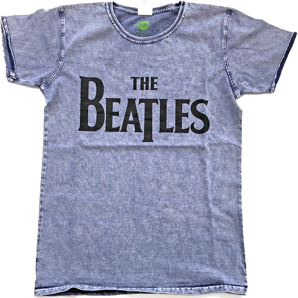 The Beatles - Drop T Logo Unisex X-Large T-Shirt - Blue