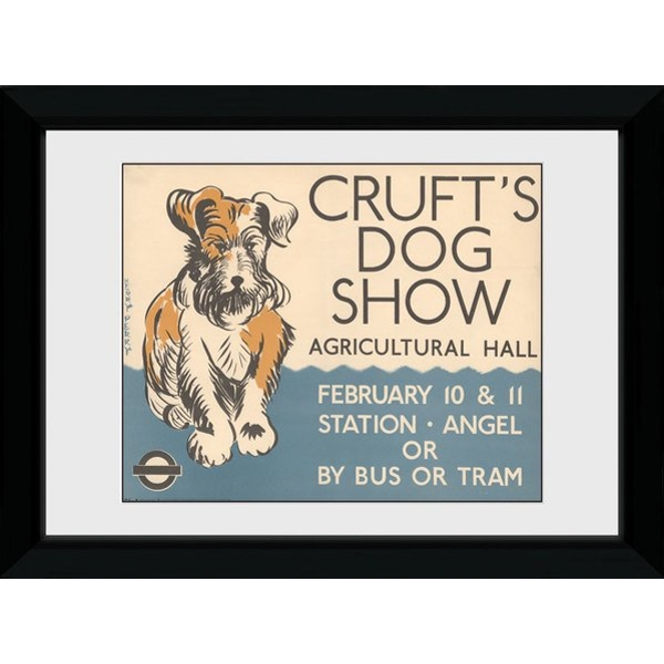 Transport For London Crufts 50 x 70 Framed Collector Print