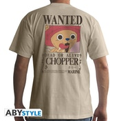 One Piece - Wanted Chopper Men's Medium T-Shirt - Beige