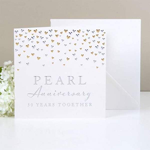 AMORE BY JULIANA? Deluxe Card - Pearl Anniversary