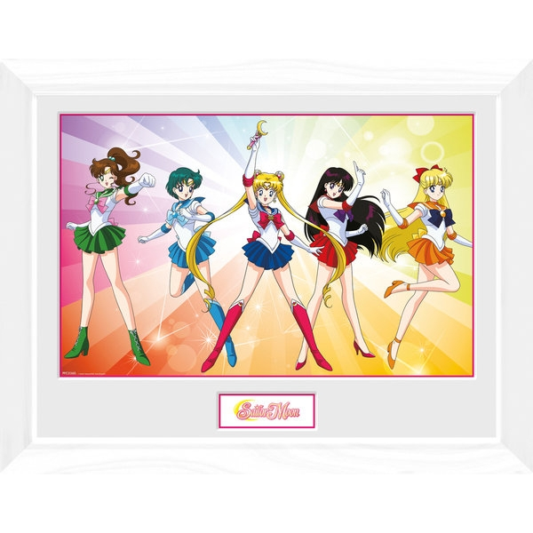 Sailor Moon Rainbow Framed Collector Print