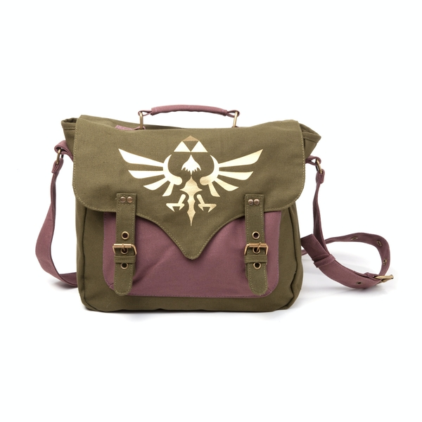 Nintendo Legend of Zelda Skyward Sword Golden Royal Crest Canvas Messenger Bag