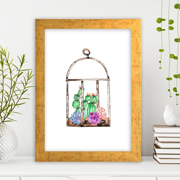 AC4476987192 Multicolor Decorative Framed MDF Painting