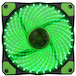 Evo Labs Vegas 120mm 1300RPM 32 x Green LED 9 Blade Fan - Image 2