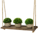 Wooden Hanging Shelf | M&W 1 Tier - Image 4