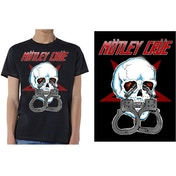 Motley Crue - Skull Cuffs 2 Men's Large T-Shirt - Black