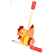 Wooden Chick Push Along Toy